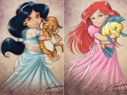 child princess 1 Princesas da Disney versão crianças