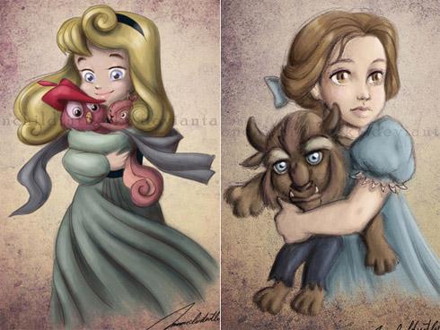 child princess 2 Princesas da Disney versão crianças