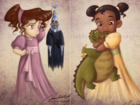 child princess 3 Princesas da Disney versão crianças