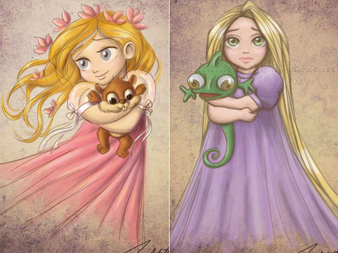 child princess 5 Princesas da Disney versão crianças