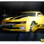 Xbox 360 com casemode do Camaro de Transformers