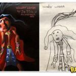 Desenhos de crianças transformam-se em ilustrações realistas