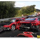 Acidente de luxo no Japão: 8 Ferrari, 3 Mercedes e 1 Lamborghini