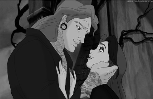 Princesas Disney em estilo punk rock