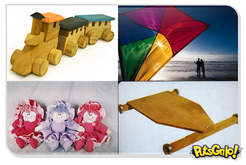 Brinquedos antigos do Natal passado