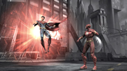 superman e the flash Jogo de Luta com Heróis da DC Comics inspirado no Mortal Kombat