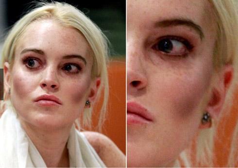 lindsay lohan Famosas Maquiagem Fail: Saiba como trollar o próprio rosto