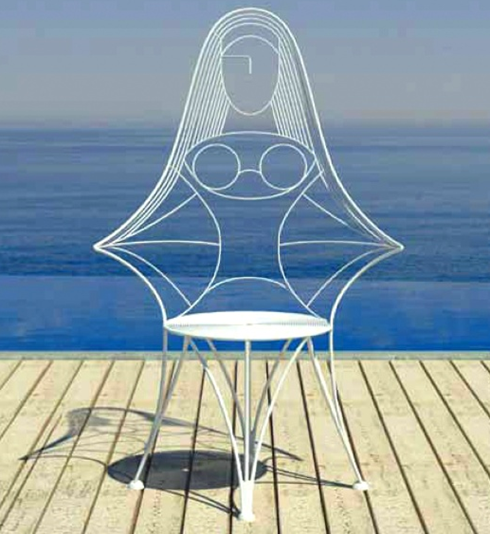 cadeira formato mulher Design criativo: móveis ultra modernos aliam conforto e inteligência