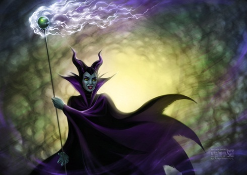 maleficent from sleeping beauty by daekazu d583tz3 Ilustrações recriam cenas de grandes filmes do cinema
