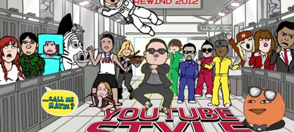 youtube style Os melhores do Youtube em 2012   ranking global