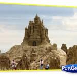 praia, esculturas, arte, fotos, castelos de areia