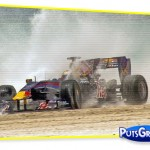 Vídeo: Carro de Fórmula 1 na Praia