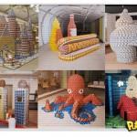 Esculturas feitas com latas