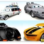 Carros famosos do cinema em versões Pixar