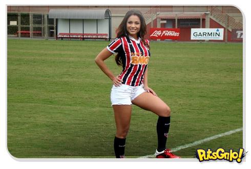 Maria do BBB fotos São Paulo Futebol Clube