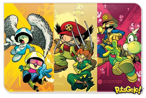 Personagens da Nintendo como X-Men
