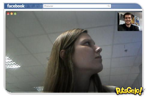 Facebook com bate-papo via webcam