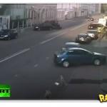 Acidente de carro incrível em Moscou
