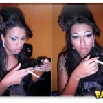 Ariadna do BBB homenageando Amy Winehouse